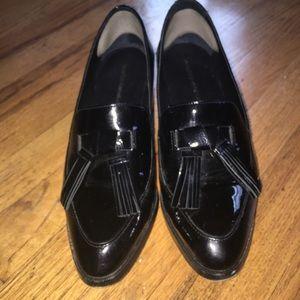Black patent leather Rebecca Minkoff loafers
